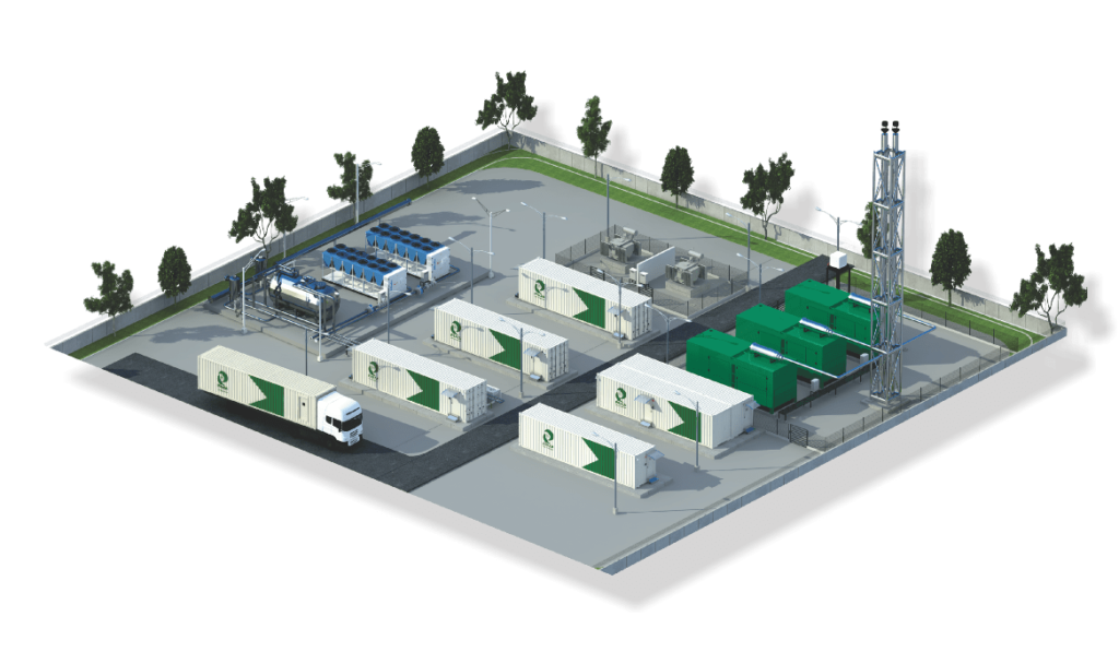 Containerized data center area