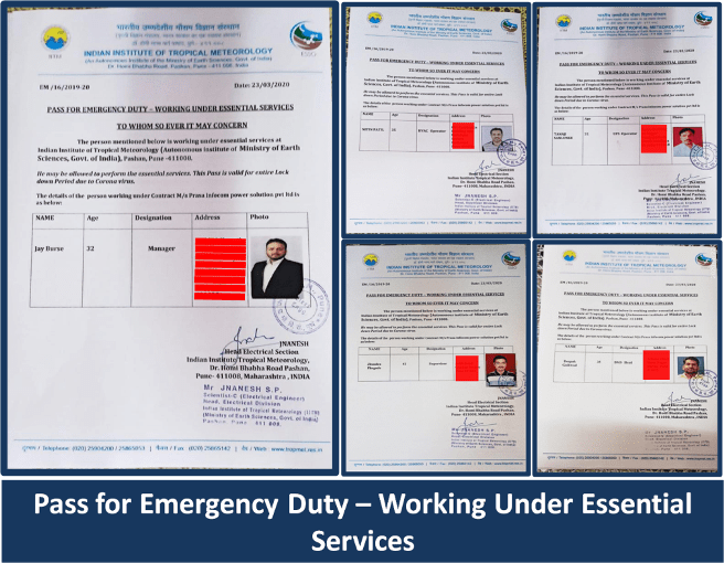 Pass for Emergency Duty