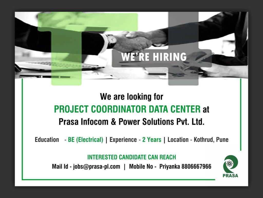 job opening - project coordinator